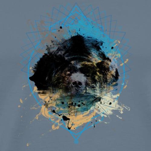 Maglietta grizzly - orso - acquerello koraldesign - Maglietta Premium da uomo