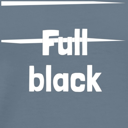 Full black logo - Herre premium T-shirt
