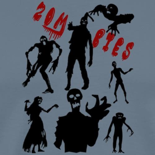 Zombies - Miesten premium t-paita