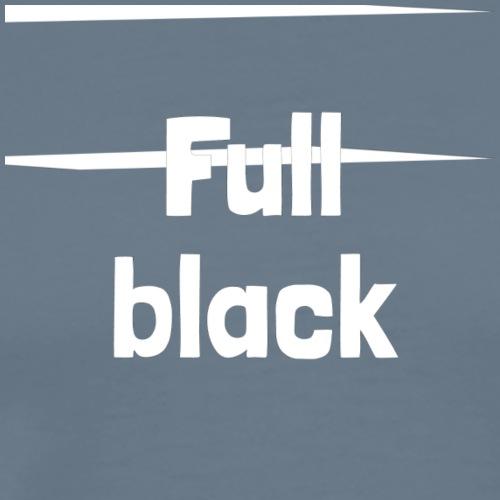 Full black logo - Herre premium T-shirt