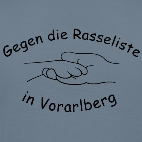 Gegen die Rasseliste in Vorarlberg black - Männer Premium T-Shirt