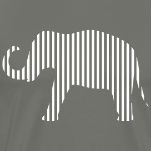 Olifant in strips - Mannen Premium T-shirt