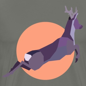 Sunset Deer - Premium T-skjorte for menn