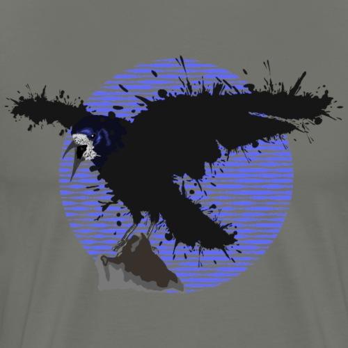 Rabe - Farbklecks auf einem Kreis - Männer Premium T-Shirt
