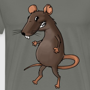 Fiese Ratte Nager Maus Ungeziefer Nagetier - Männer Premium T-Shirt