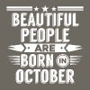 Beatiful people born in October - T-Shirt - Men's Premium T-Shirt