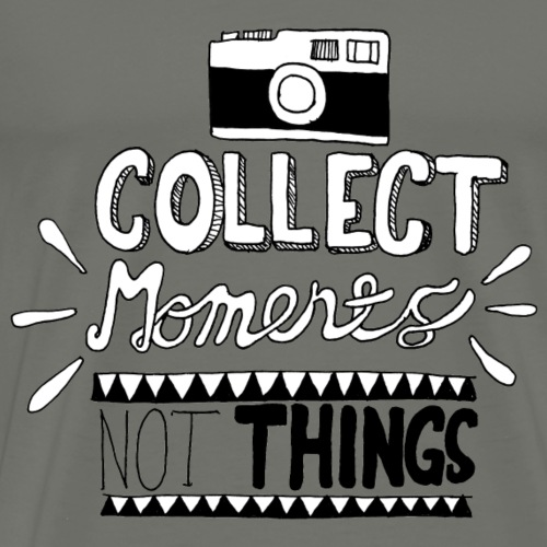 TRAVELER GADGET Collect moments not things - Maglietta Premium da uomo