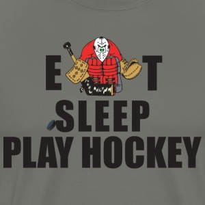 Hockey Eat Sleep Play Hockey - Premium T-skjorte for menn