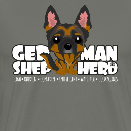 German Shepherd - DGBigHead - Men's Premium T-Shirt