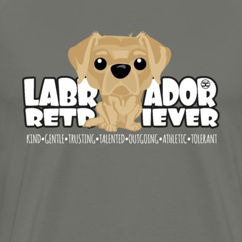 Labrador Retriever (Yellow) - DGBighead - Men's Premium T-Shirt