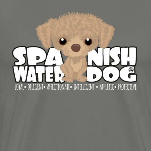 Spanish Water Dog (B & W) - DGBigHead - Men's Premium T-Shirt