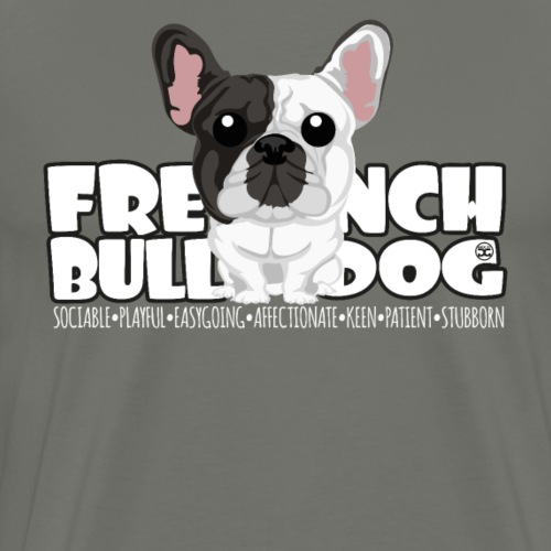French Bulldog - DGBighead (Brindle Pied) - Men's Premium T-Shirt