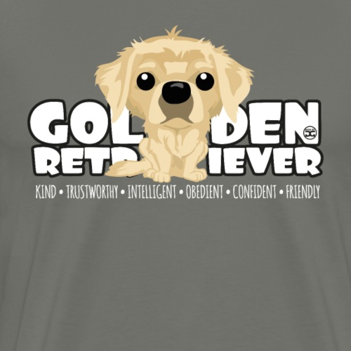Golden Retriever - DGBigHead - Men's Premium T-Shirt