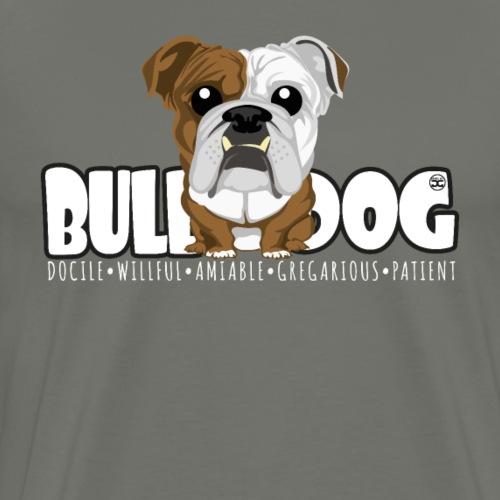 Bulldog - DGBighead (Brindle) - Men's Premium T-Shirt