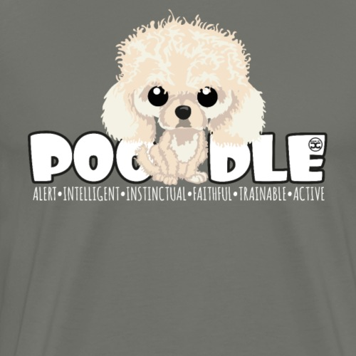 Poodle (Apricot) - DGBigHead - Men's Premium T-Shirt