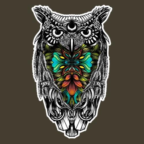 Color del búho - Camiseta premium hombre