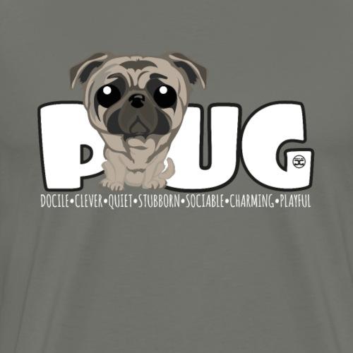 Pug - DGBigHead - Men's Premium T-Shirt