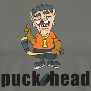 Hockey Puck Head - Men's Premium T-Shirt