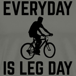 Everyday er Leg Day - Herre premium T-shirt