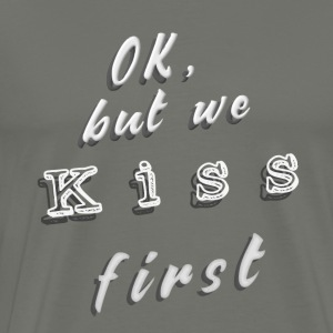 Kiss First gray / unisex - T-shirt Premium Homme