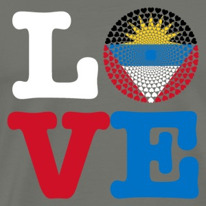 Antigua Barbuda Love Heart Mandala - Men's Premium T-Shirt