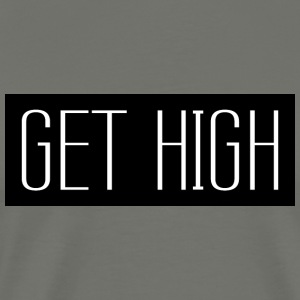 Get High Black 001 runda design - Premium-T-shirt herr