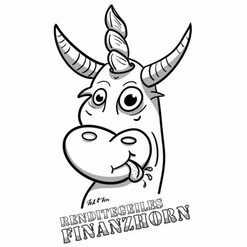 Das Finanzhorn, Investoren und Börsianer kennen es - Männer Premium T-Shirt