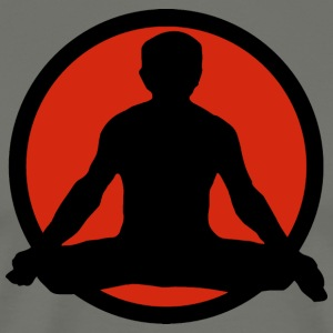 Yoga Lotus Pose - Mannen Premium T-shirt