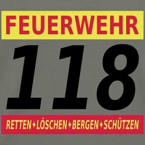 Feuerwehr 118 Schweiz - Männer Premium T-Shirt