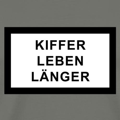 Kiffer leben länger - Männer Premium T-Shirt