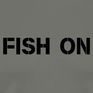 fish on black writing - Men's Premium T-Shirt