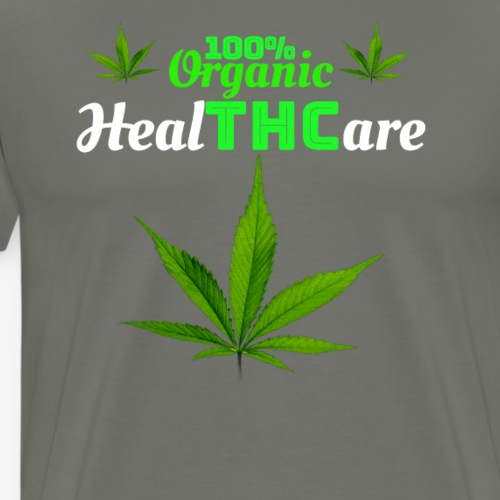 100% Organic HealTHCare Medicinal Cannabis Design - Men's Premium T-Shirt