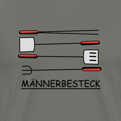 Maennerbesteck - Männer Premium T-Shirt