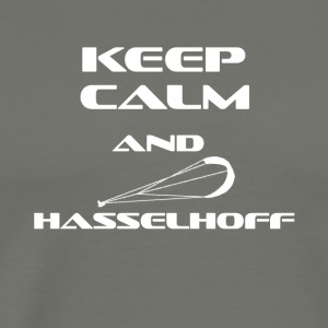 KITESURFING KEEP CALM AND HASSELHOFF - Men's Premium T-Shirt