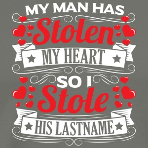 MY MAN HAS STOLEN MY HEART - Men's Premium T-Shirt