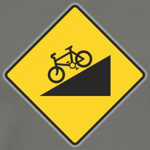 Road Sign angle bicycle way - Men's Premium T-Shirt