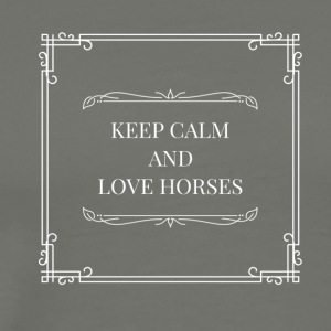 Horse love - Men's Premium T-Shirt