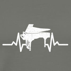 My heart beats for my piano - Men's Premium T-Shirt