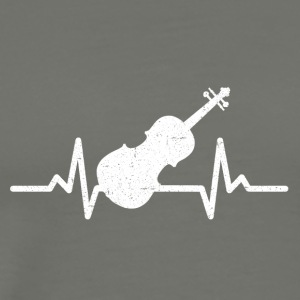 My heart beats for violin - Men's Premium T-Shirt
