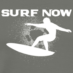 surf now 4 white - Men's Premium T-Shirt