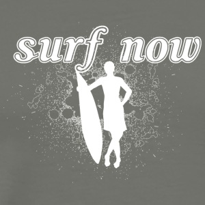 Surfer girl 02 hvit - Premium T-skjorte for menn