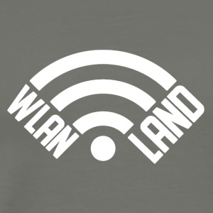 Wlan Land Logo white - Men's Premium T-Shirt