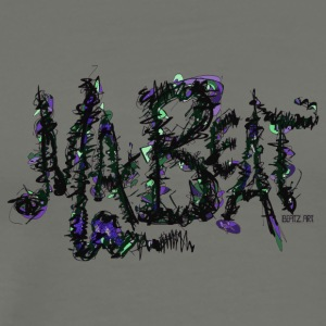 MA BEAT lila- ARTwork by BEATZ.Art Schrift Design - Männer Premium T-Shirt