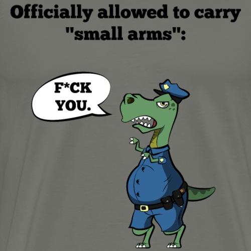 T-Rex Police Officer - Männer Premium T-Shirt