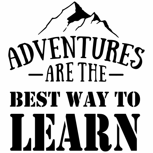 Adventures are the best way to learn - Mannen Premium T-shirt