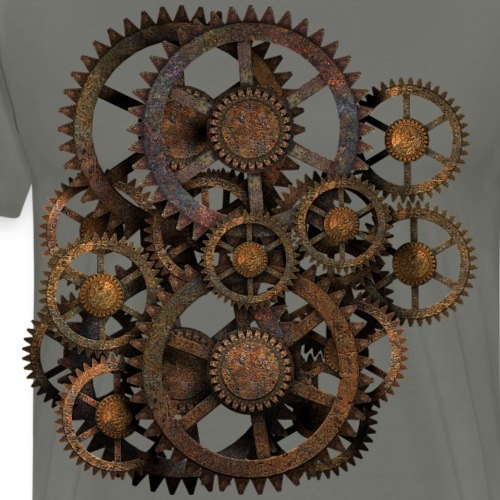 Steampunk Gears on your Gear - Men's Premium T-Shirt