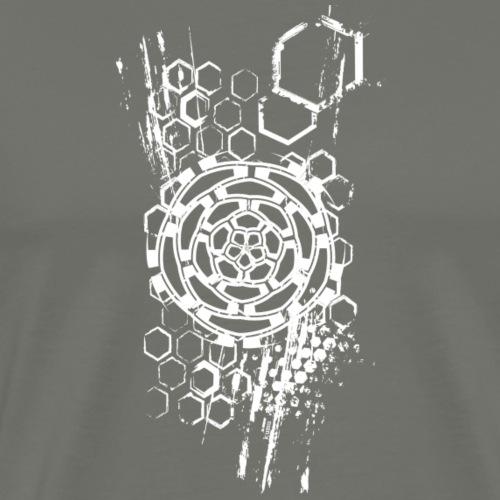 honeycomb flower (shirt, top, bag) - Männer Premium T-Shirt