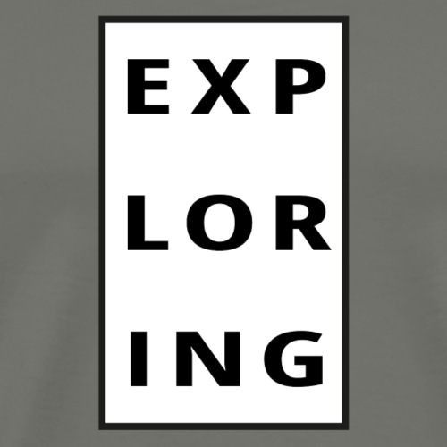 exploring - Premium-T-shirt herr