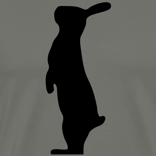 stehender Hase Kaninchen Häschen bunny Osterhase - Männer Premium T-Shirt