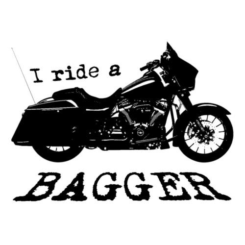 I ride a bagger - sort - Herre premium T-shirt